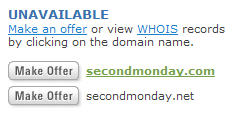 Second Monday is not available