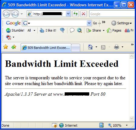 Bandwidth Exceeded