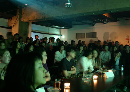 An audience at a recent pecha kucha event