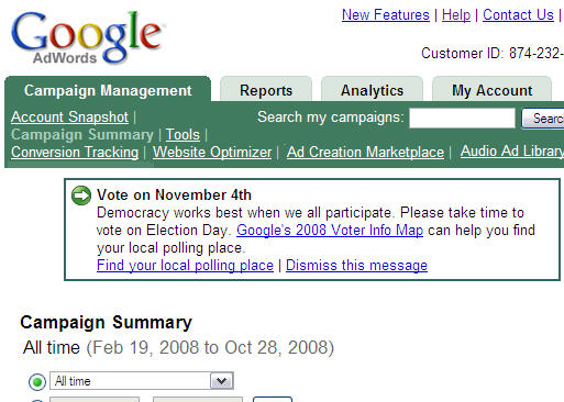Google gets out the vote