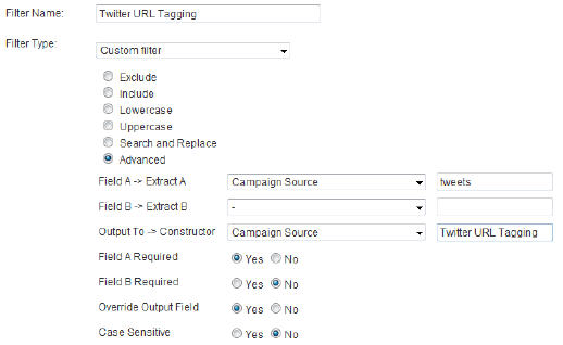 Tagged URL Filter
