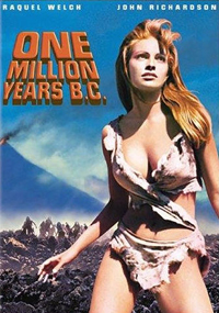 One Million Years BC was a very cheesy movie about life before history. Original voice was mostly simple words and grunts. Heavy breathing was also involved -- at least, I'm imagining, by certain audience members.